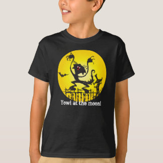 Halloween Cat Shirt for Kids - Yowl At The Moon!