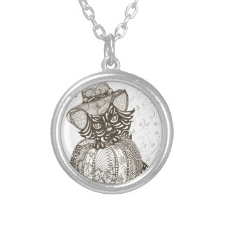 Halloween Cat Silver Plated Necklace