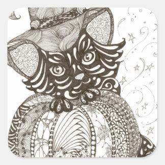 Halloween Cat Square Sticker