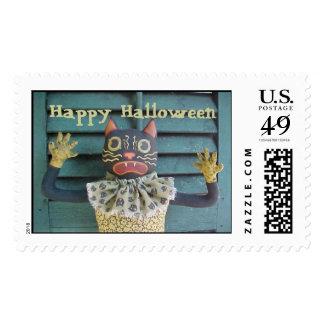 Halloween Cat Stamp, Happy Halloween