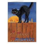 Halloween Cat & Sun - Greeting Card