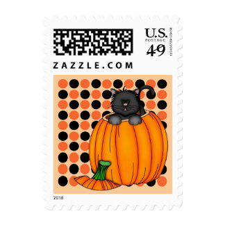 Halloween Cat T-shirts and Gifts Stamps