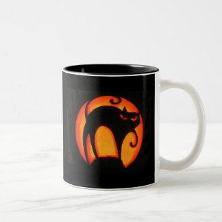 Halloween Cat Two-Tone Coffee Mug
