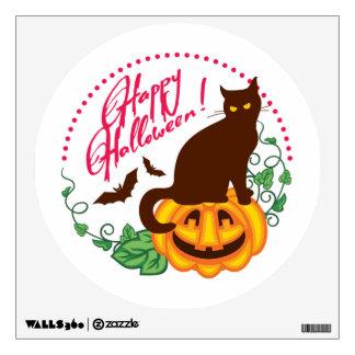 Halloween cat wall sticker