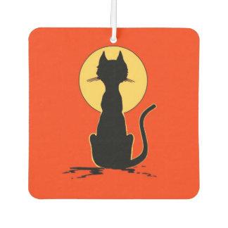 Halloween Cat with Moon ~ Air Freshener