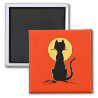 Halloween Cat with Moon ~ Magnet