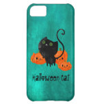 Halloween Cat with Pumpkins Cover For iPhone 5C
