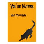 "Halloween Cat - You're Invited Invitation 5"" X 7"" Invitation Card"
