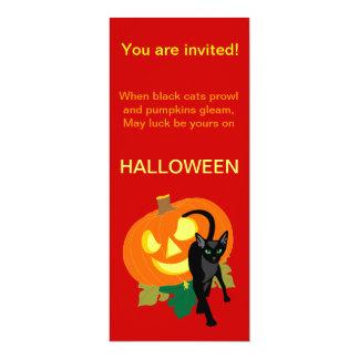 Halloween Cats and Pumpkin Invitation
