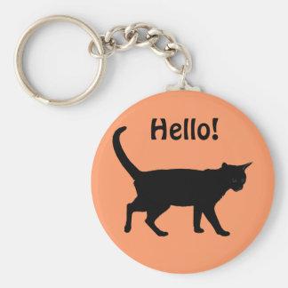 Halloween cats! basic round button keychain