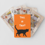 Halloween cats! bicycle playing cards
