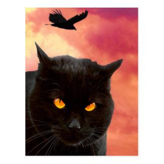 Halloween Cat's Face Postcard