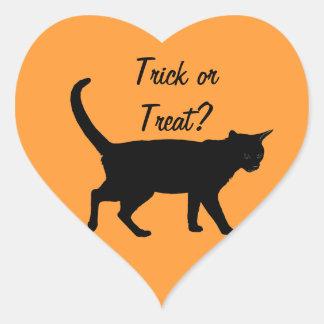 Halloween cats! heart sticker