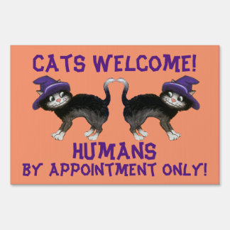 Halloween Cats Sign
