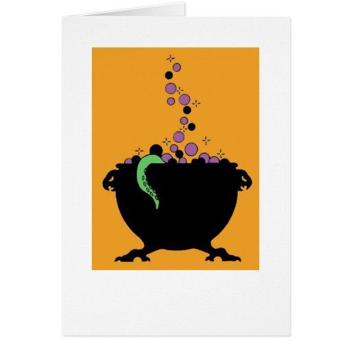 Halloween Cauldron Greeting Card