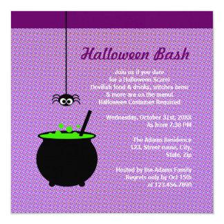 Halloween Cauldron Personalized Announcements