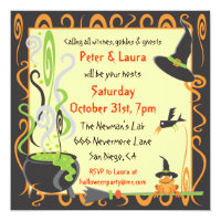 Halloween Cauldron Party Invitation