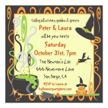 McBooboo Halloween Cauldron Party Invitation