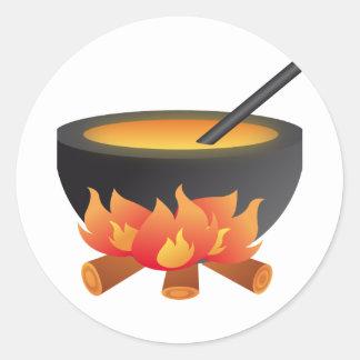 Halloween Cauldron Sticker