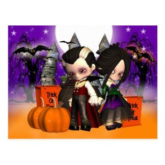 Halloween, celebración de Halloween, noche de Postal