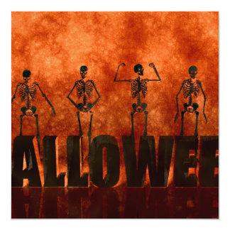 Halloween Celebration with Skeletons Dancing Card