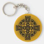 Halloween celtic cross keychain