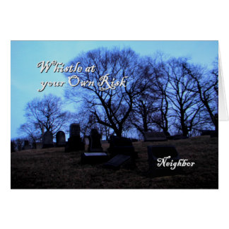 Halloween - cementerio fantasmagórico, para el vec tarjeta de felicitación