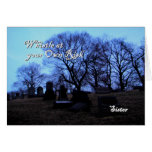 Halloween - cementerio fantasmagórico, para la her tarjetón
