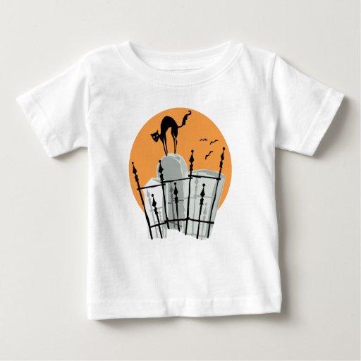 Halloween Cemetery Cat Baby T-Shirt