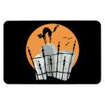 Halloween Cemetery Cat Rectangular Magnet