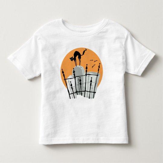 Halloween Cemetery Cat Toddler T-shirt