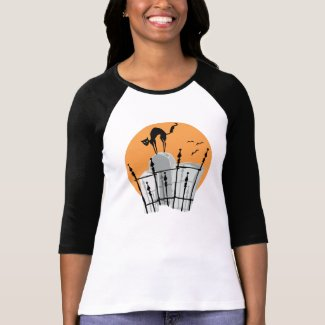Halloween Cemetery Cat shirt