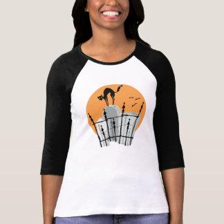 Halloween Cemetery Cat Shirts