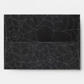 Halloween Chalk Spider Web Invitation Envelope