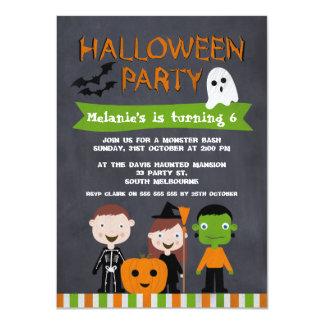 Halloween Chalkboard Birthday Invitation For Kids