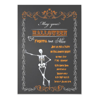 Halloween Chalkboard Party Invitation