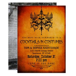 Halloween Chandelier | Custom Photo Party Card