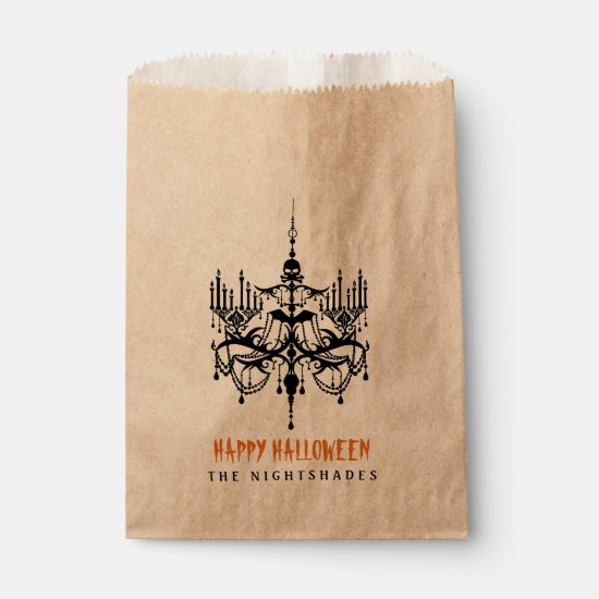 Halloween Chandelier Favor Treat Bags