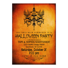 Halloween Chandelier Party Invitation at Zazzle