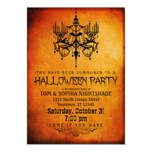 Halloween invitations zazzle halloween chandelier party invitation stopboris Gallery