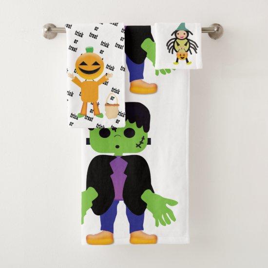 Halloween Characters Bathroom Towel Set