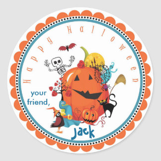 Halloween Characters Goodie Bag Stickers