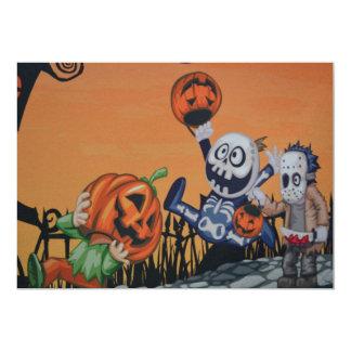 Halloween characters invitation