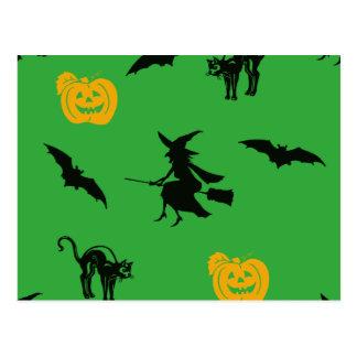 Halloween Characters Postcard