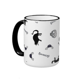 Halloween Characters Ringer Mug