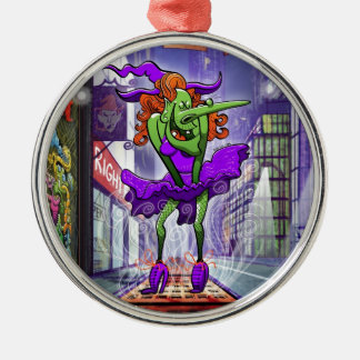 Halloween Charming Witch Metal Ornament