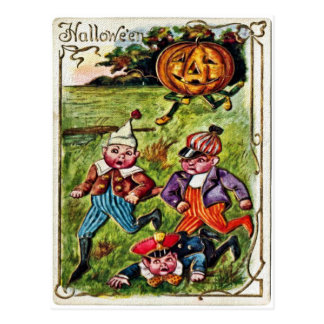 Halloween Chase Postcard
