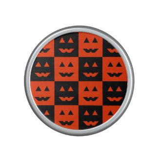 Halloween Checkered Pumpkin Face Bluetooth Speaker