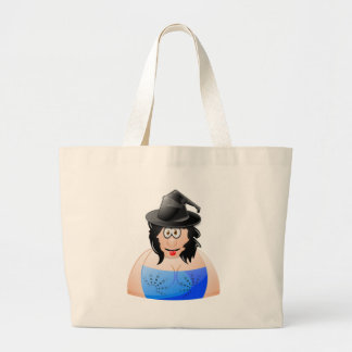 Halloween Cheeky Witch Large Tote Bag