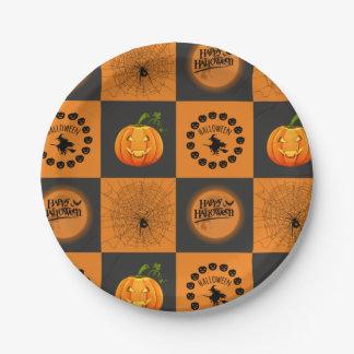 Halloween Chessboard Paper Plate